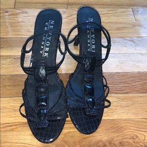 New York Transit Strappy Sandal Heels Size 11